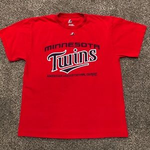 Minnesota Twins AL Central Men's Red Large T-Shirt